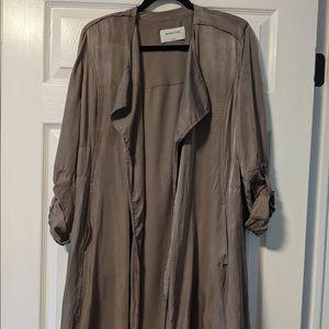Babaton Trench Style Coat Gray Womens Large